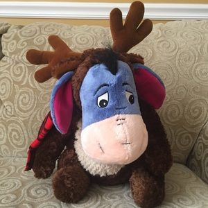 Disney Eeyore Plush W/Scarf & Moose Costume